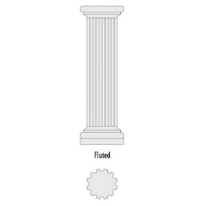 Architectural Foam Columns Fluted